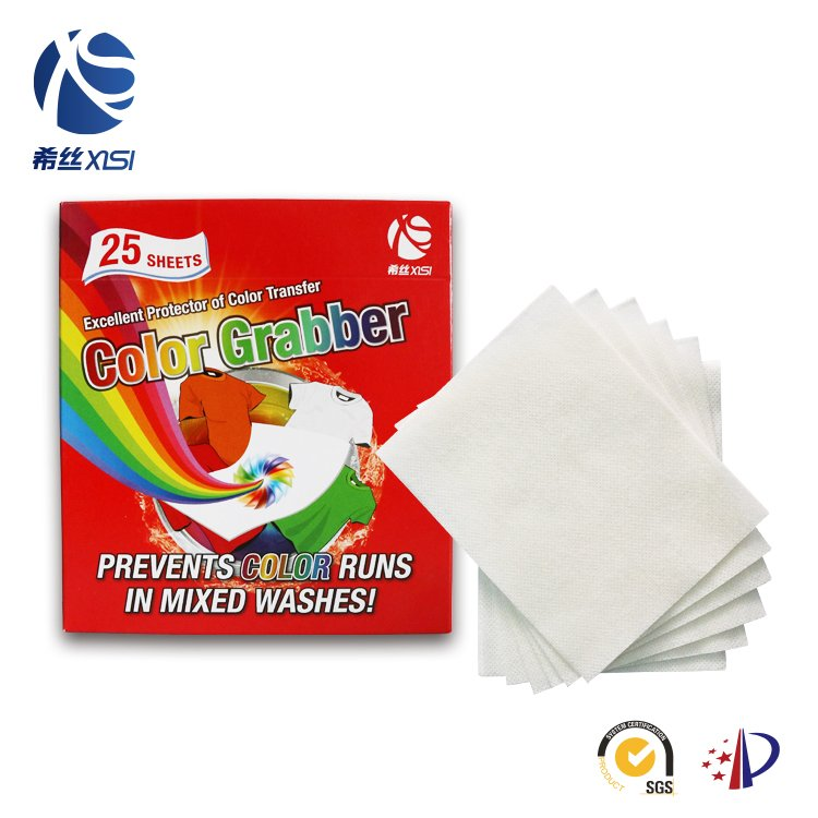 Magic laundry colour fabric catcher sheets for absorbing