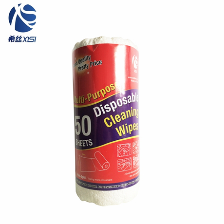 Customized disposable cleaning wipes paper roll